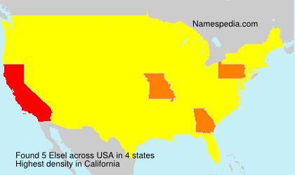 Surname Elsel in USA
