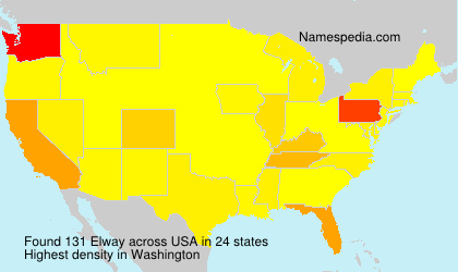 Surname Elway in USA
