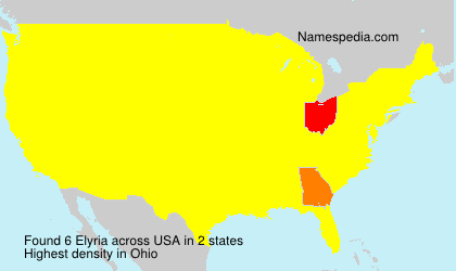 Surname Elyria in USA