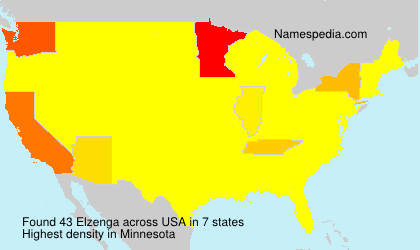 Surname Elzenga in USA