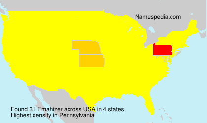Surname Emahizer in USA