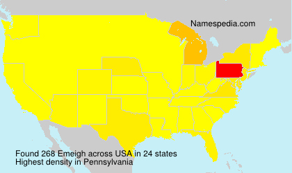 Surname Emeigh in USA