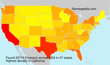 Surname Emerson in USA