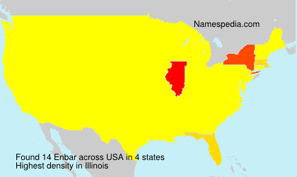 Surname Enbar in USA
