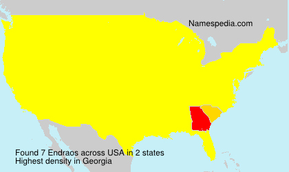 Surname Endraos in USA
