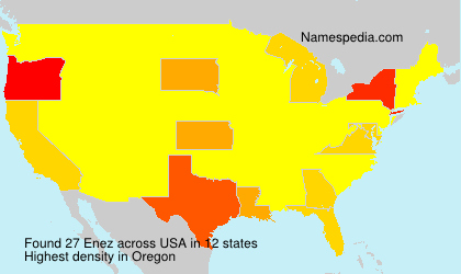 Surname Enez in USA