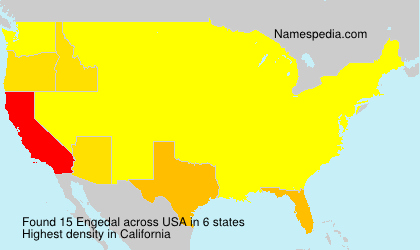 Surname Engedal in USA
