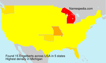 Surname Engelberts in USA