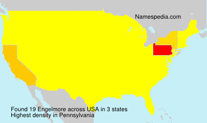 Surname Engelmore in USA