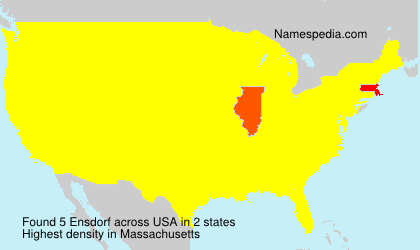 Surname Ensdorf in USA
