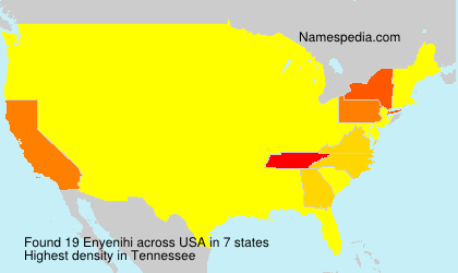 Surname Enyenihi in USA