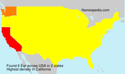Surname Eqr in USA