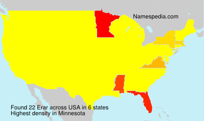 Surname Erar in USA