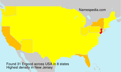 Surname Ergood in USA