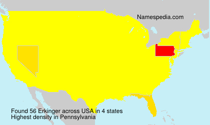 Surname Erkinger in USA