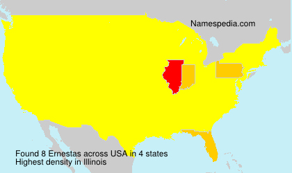 Surname Ernestas in USA