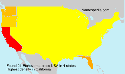 Surname Etchevers in USA