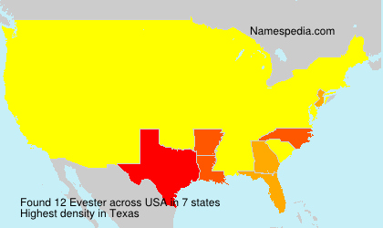 Surname Evester in USA