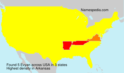 Surname Evyan in USA