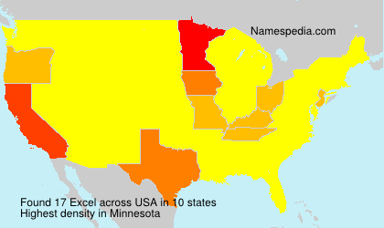 Surname Excel in USA