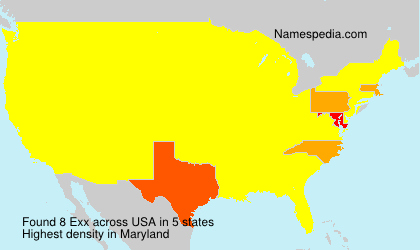 Surname Exx in USA