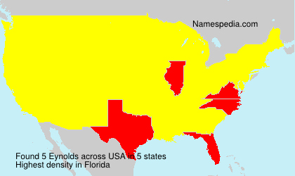 Surname Eynolds in USA