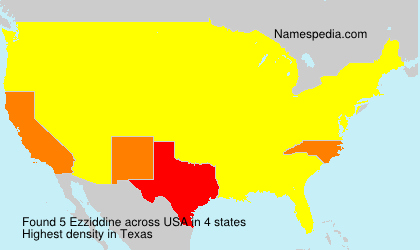 Surname Ezziddine in USA