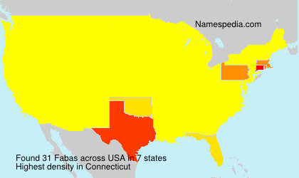 Surname Fabas in USA