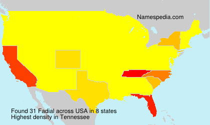 Surname Fadial in USA