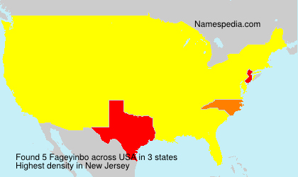 Surname Fageyinbo in USA