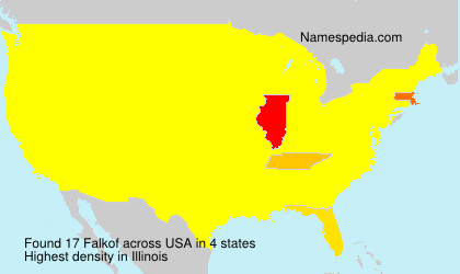 Surname Falkof in USA