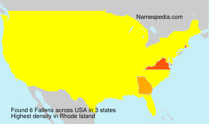 Surname Fallens in USA