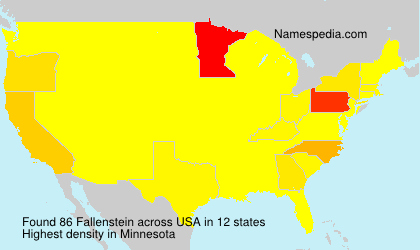 Surname Fallenstein in USA