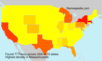 Surname Fanos in USA