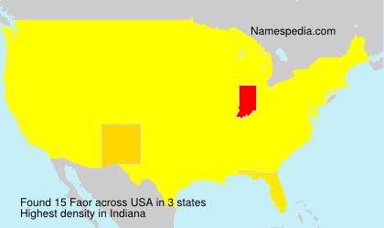 Surname Faor in USA