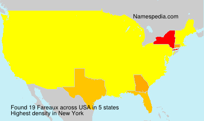 Surname Fareaux in USA