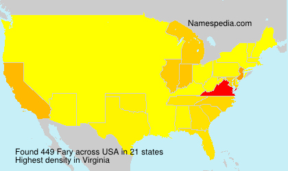 Surname Fary in USA