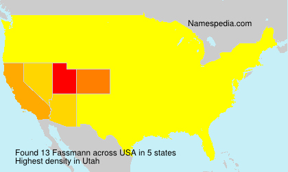 Surname Fassmann in USA