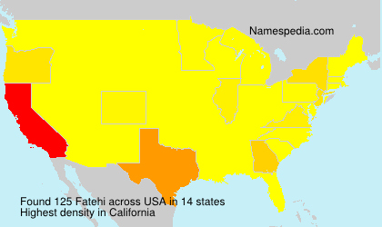 Surname Fatehi in USA