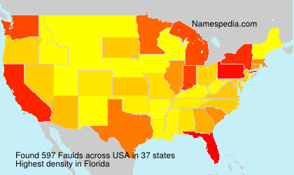 Surname Faulds in USA
