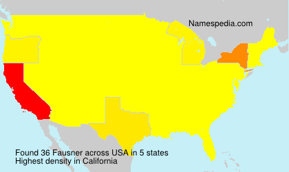 Surname Fausner in USA