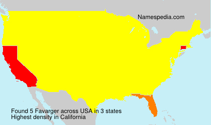 Surname Favarger in USA