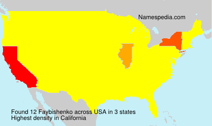 Surname Faybishenko in USA