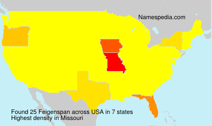 Surname Feigenspan in USA