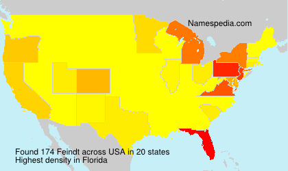 Surname Feindt in USA