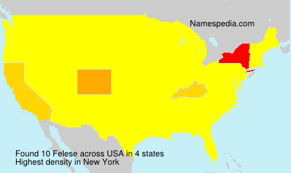 Surname Felese in USA