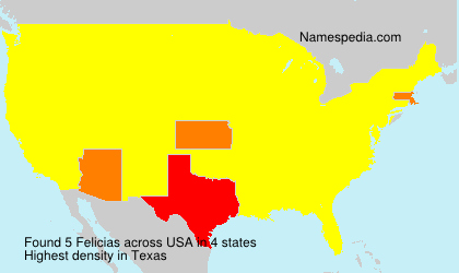 Surname Felicias in USA