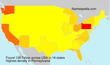 Surname Felzer in USA