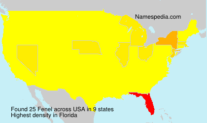 Surname Fenel in USA
