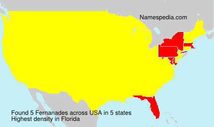 Surname Fernanades in USA